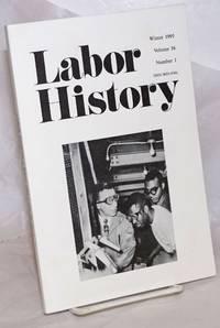 image of Labor history. vol 36, no. 1, Winter, 1995