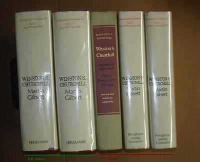 London/Boston: Heinemann/Houghton Mifflin, 1972-1977. Mixed Editions (U.S. and U.K.). Octavo; five h...