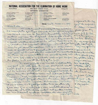 Very good. Three-page manuscript letter, approximately 800 words, from Dr. G.A. Hinnen of Cincinnati...