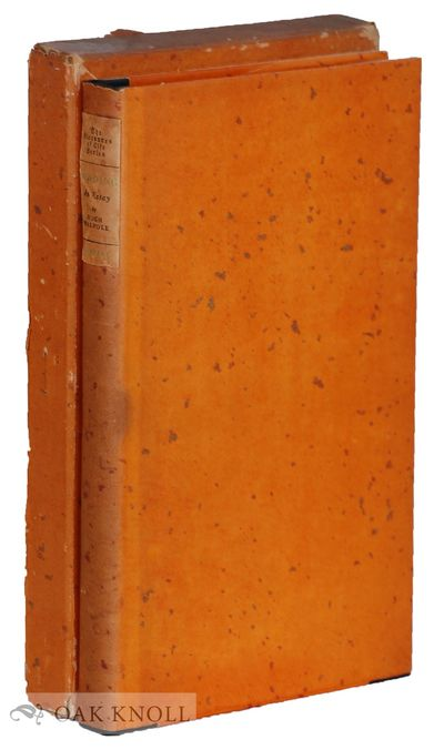 New York: Harper & Brothers, 1926. half cloth, paper spine label, dust jacket, paper spine label on ...