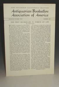 Antiquarian Booksellers Association of America, The Southern California Chapter, No. 2 (1957)