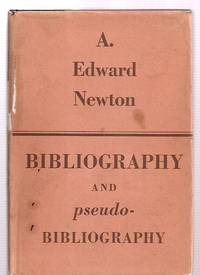 image of BIBLIOGRAPHY AND PSEUDO-BIBLIOGRAPHY [THE ROSENBACH FELLOWSHIP IN  BIBLIOGRAPHY V]