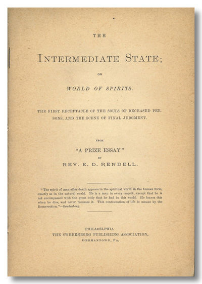 Philadelphia & Germantown: Swedenborg Publishing Association, 1880. 29,pp. Sewn into later plain sti...