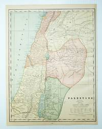 1889 Color Map of Palestine