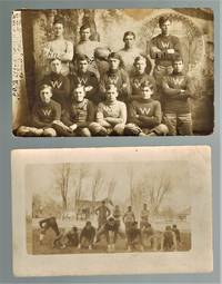 (Real Photo postcards)  Two Real Photo Postcards Depicting  Kansas High School Football Teams 1912-1913