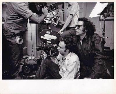 Los Angeles: Twentieth Century Library, 1971. Vintage photograph of director Jerry Schatzberg and ci...
