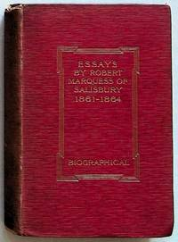 Essays by the Late Marquess of Salisbury