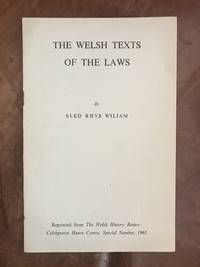 image of The Welsh Texts Of The Laws