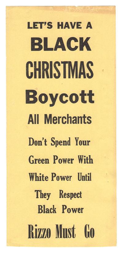 Let�s Have a Black Christmas Boycott