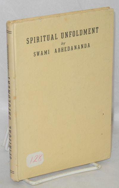 Calcutta, India: Ramakrishna Vedanta Math, 1955. Hardcover. 101 p., hardcover, ex-library copy from ...