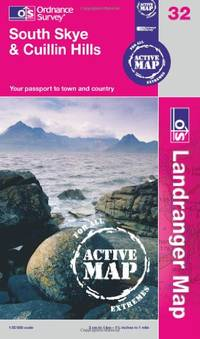 South Skye and Cuillin Hills (OS Landranger Map Active) (OS Landranger Active Map)