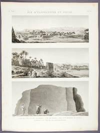 Île d'Éléphantine et Syene 1. Vue de L'Île et des Environs. 2. Vue de Syene. 3. Vue d'un rocher de granit portant les traces de l'exploitation