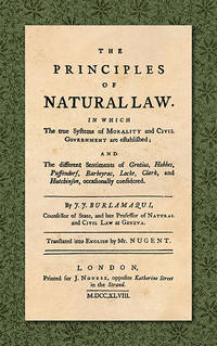 The Principles of Natural Law. In Which the True Systems of..
