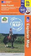 image of New Forest, Southampton, Ringwood, Ferndown, Lymington, Christchurch and Bournemouth (OS Explorer Map Active)