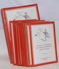 L' autographe S.A. Geneve lettres, autographes, documents historiques, photos signees [15 of the first 19 catalogues, broken run]