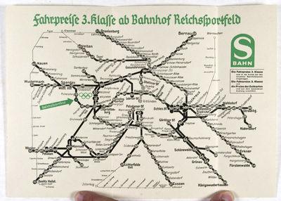Berlin: Deutsche Reichsbahn, 1936. Softcover. vg. Octavo. Original illustrated wrappers. Unpaginated...