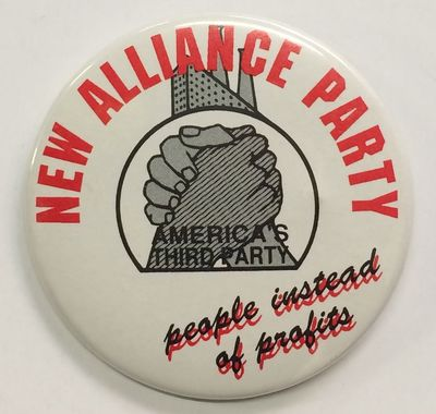 : NAP, n.d.. 2.25 inch pin, manufactured by Broadway Marketing. The NAP functioned as a political fr...