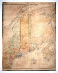 Map Of The State Of Maine With The Province Of New Brunswick