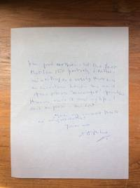image of Autographed Letter, October 18, 1953