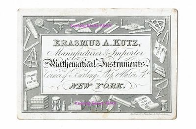 New York: , 1849. first Edition. Very Good. first Edition. 90 x 63 cm. Engraved trade-card on white ...