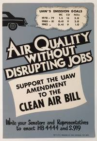Air quality without disrupting jobs / Support the UAW amendment to the Clean Air Bill [poster]