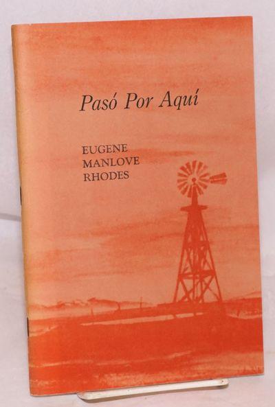 Almagordo: The Friends of the Almagordo Public Library, 1963. 68p., 6x9 inches, frontis, introductio...
