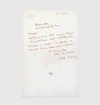 Autograph letter signed to Lucien-Léopold Jottrand.