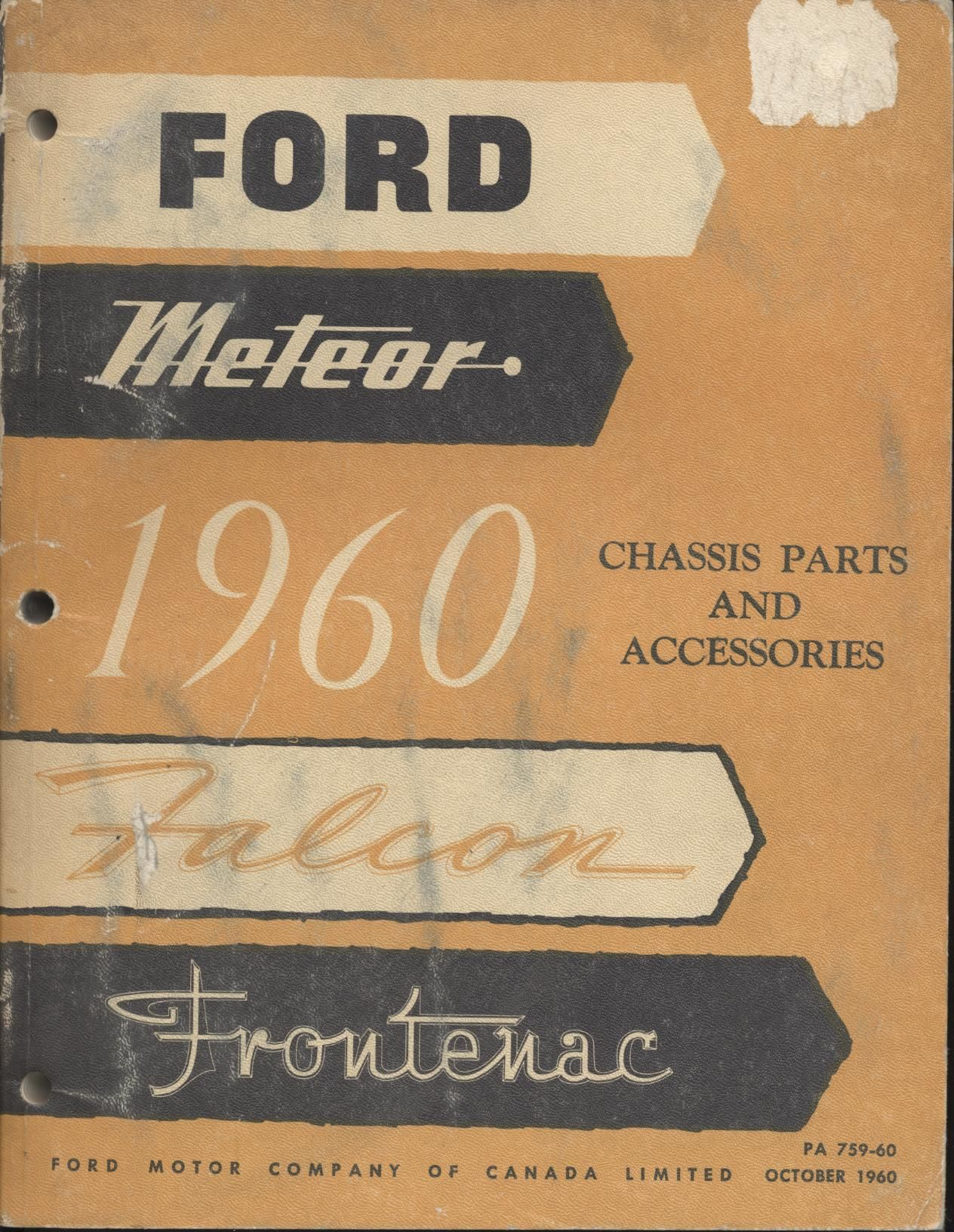 Ford Meteor Falcon Frontenac Chassis Parts And