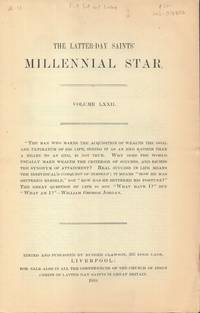 Latter-Day Saints' Millennial Star Volume LXXII
