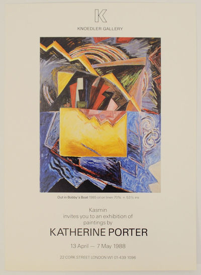 London: Knoedler Gallery, 1988. Gallery invitation card for a show that ran April 13 through May 7, ...