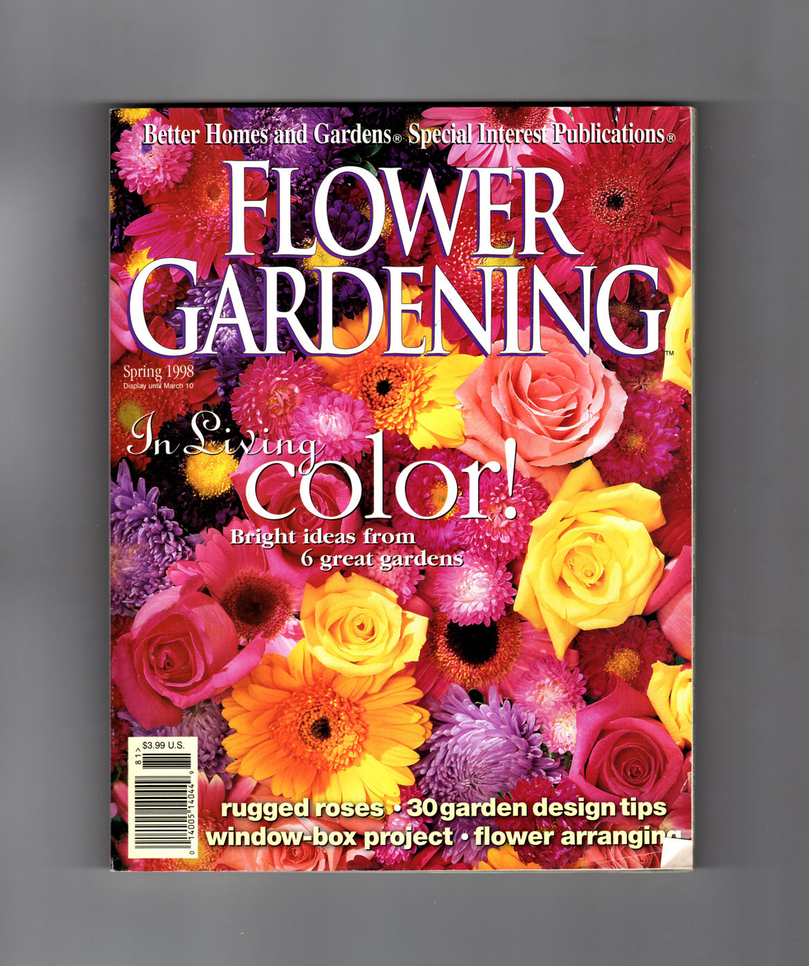 Better Homes And Gardens Flower Gardening Special Interest Issue Spring 1998 Godetias