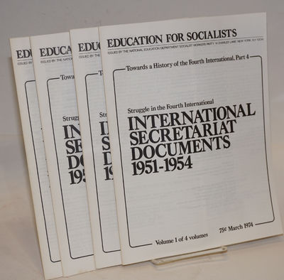 New York: National Education Department, Socialist Workers Party, 1974. Four volumes , all very good...