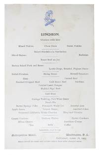 LUNCHEON.; Saturday, April 18, 1903