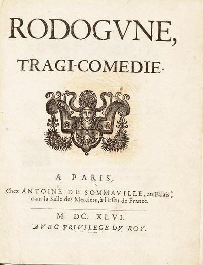 Paris: Chez Antoine Sommaville, 1646. Original edition: issued simultaneously by A. de Sommaville, A...