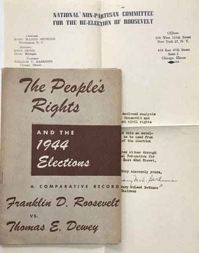 New York: National Federation for Constitutional Liberties, 1944. 47p., staplebound pamphlet, some t...