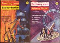 """The Magazine of Fantasy and Science Fiction August & September 1966, 2 issues featuring """"The Productions of Time"""" by John Brunner, + For the Love of Barbara Allen, Near Thing, Come Lady Death, Narrow Valley, Mr. Wilde's Second Chance, +++"""