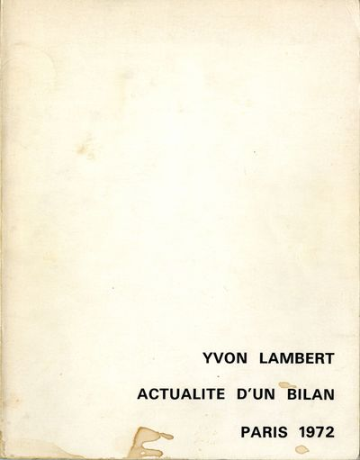 Paris: the author, 1972. Artists' book . Profusely illustrated. 136 pp. Stiff white paper covers. 27...
