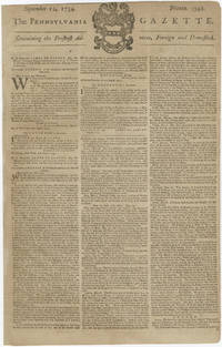 Benjamin Franklin's Newspaper Reports on the Proposed Union of the Colonies