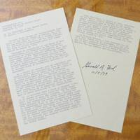 Typescript of President Gerald Ford's Pardon of Richard Nixon, Signed in 1979 .