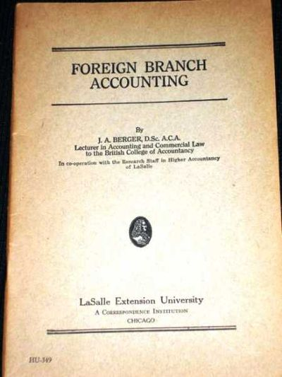 foreign branch and accounting Accounting of a foreign branch or representative office includes the same aspects as the accounting of any company registered in russia in addition there is internal reporting established by the parent company: in a foreign language and taking into account the legal framework of the country in which the central office is located.