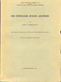 Zur Ethologie junger Anatiden.