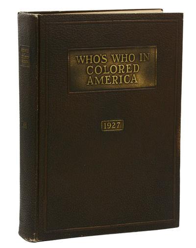 Who's Who in Colored America 1927 Vol. 1