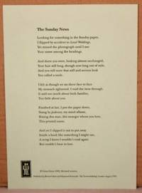 image of The Sunday News. BROADSIDE 8.2x11.8 inches.