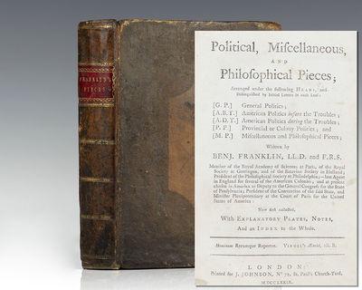 London: J. Johnson, 1779. First edition of