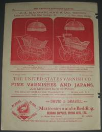 image of Original 1888 Vintage Advertisements Forj. A. MacFarlane_Co. Rattan and  Reed Baby Carriage and the Sheboygan Manufacturing Co. Great Illustrated  Advertisment