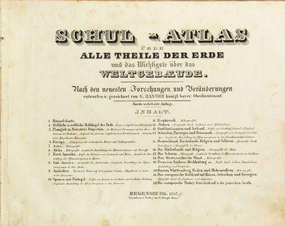 Regensburg: Eigenthum u. Verlag von G. Joseph Manz, 1847. First edition, oblong 8vo, pp. ; 22 maps o...