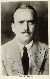 Fine postcard photo from the Picturegoer series signed and inscribed (Douglas, 1883-1939, Swashbuckling Star of Silent Film)