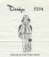 Design 7274 - Child's Knitted Suit
