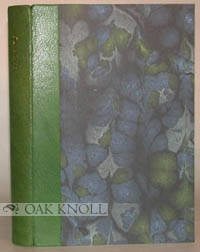 Manor Farm: Whittington Press, 1991. quarter leather, marbled paper over boards, in slipcase with se...