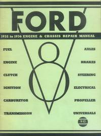 image of Ford V-8 1932 to 1936 Engine & Chassis Repair Manual